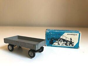 """Vintage Diecast Marklin Farm Flatbed Trailer """"Anhanger"""" 8012 with Original Box"""