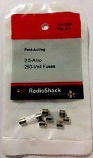 Radioshack Fast Acting 2.5-Amp 250-Volt Fuses (270-1053) 4 Pack NEW