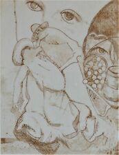 Maria Assumpció RAVENTOS (1930) PROBEDRUCK-Farbradierung: HOMMAGE A BRUEGEL