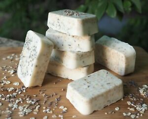 Natural Homemade Lavender & Oatmeal Soap Aromatic Lavender Essential Oils