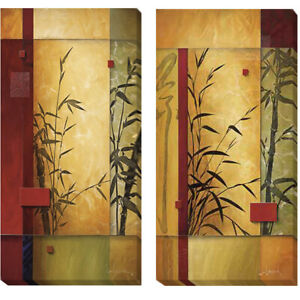 Garden Dance I & II by Don Li-Leger 2-pc Gallery Wrapped Canvas Giclee Art Set
