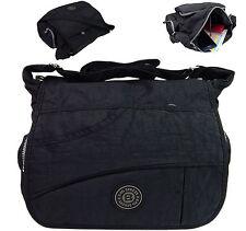 Bag Street Umhängetasche Nylon Tasche Überschlagtasche Crossover 2222 schwarz