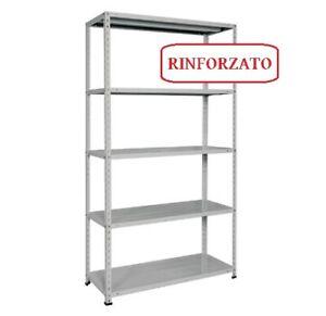 SCAFFALE RINFORZATO 5 RIPIANI piani ACCIAIO METALLO 40 X 80 X h. 200 cm