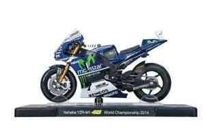 VALENTINO ROSSI Yamaha YZR-M1 2014 MotoGP Bike - Collectable Model - 1:18 Scale