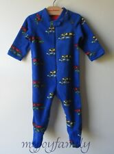 HANNA ANDERSSON Snugglesuit Jammies Feet Footed Sleeper Blue Cars 70 9-18 mo NWT