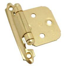 PAIR AMEROCK Variable Overlay Flush Cabinet Door Hinge Polished Brass CM7139-3
