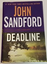 John Sandford DEADLINE A Virgil Flowers Novel Hardcover 1st Edition Book HCDJ
