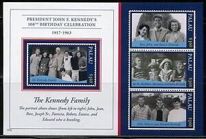 PALAU 2017  100th BIRTHDAY CELEBRATION JOHN F. KENNEDY  SHEET(4)  MINT NH