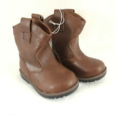 Cat & Jack Toddler Boys Hunter Western Boots Faux Leather Slip On Brown Size 6