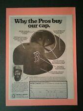 1976 Luis Tiant Red Sox K M Pro Baseball Cap Sports Memorabilia Promo Photo Ad
