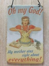 Mum Gift Mother Mini Metal Sign Plaque Birthday Card Hanging Retro New UK Funny