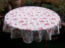 Tischdecke Groß 140cm Durchmesser Rund Tischdeko  Rosalie Dekoration Rosen Neu