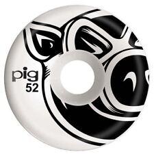 Pig 3D Conical Skateboard Wheels Natural 52mm