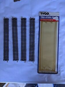 Vintage NOS TYCO Lot of 3 LH #410, #417 Straight, #418 Curved Tru-Steel Track 6R