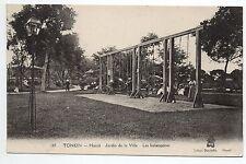 INDOCHINE TONKIN HANOI les balançoires au jardin de la ville