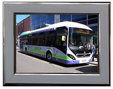 """FIRST ESSEX VOLVO 7900H BUS  7"""" X 5"""" FRAMED PHOTOGRAPH (WSF11P)"""
