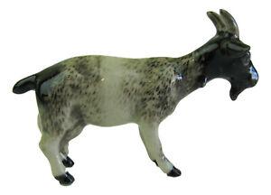 Miniature Porcelain Nubian Goat Figurine Approx 3.5cm HIgh