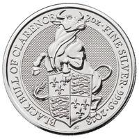 2018 Britain 2 oz Silver Queen's Beasts Black Bull BU Coin SKU52870