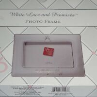 "NEW Russ White Lace & Promises Porcelain ""Still Sparkling"" Picture Frame 4x6"