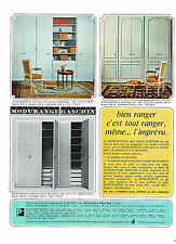 PUBLICITE ADVERTISING 1966   MODURANGE GASCOIN  portes de placard rangement