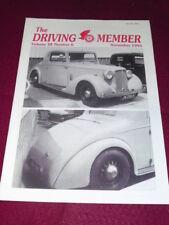THE DRIVING MEMBER - Nov 1991 Vol 28 # 6