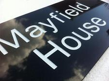 """20mm Black Granite  House Sign Deeply Engraved To Your Requirements 12""""/8"""""""