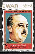 Ajman WW2 Spanish Generalisimus Franco stamp 1970
