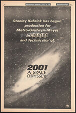 2001: A SPACE ODYSSEY__Original 1966 Trade AD promo / poster__STANLEY KUBRICK