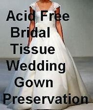 50 ACID FREE UNBUFFERED White BRIDAL Tissue Paper 20x30 + FREE SACHET