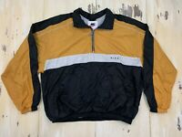 NIKE - Vtg 90s Gold Yellow & Black Windbreaker 1/4 Zip Jacket, Mens Adult XL