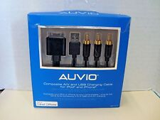 AUVIO 6-Ft. iPod Composite A/V and USB Charging Cable for iPod iPhone 1201317