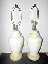 """LAMPS PAIR OF 28""""H  MARBLEIZED HIGH-END CERAMIC ASIAN THEMED GINGER JAR LAMPS"""