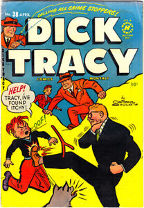 DICK TRACY #38 VG- Chester Gould Junior Vs. Itchy 1951 Harvey