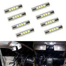 8 x Xenon White T6 28MM 4SMD LED For Car Vanity Mirror Light Sun Visor JDM 6641