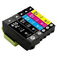 5Pk 410 XL 410XL High Capacity Black Cyan Magenta Yellow Ink Cartridge for Epson