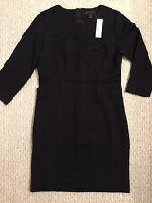 NWT JCrew $138 Long-Sleeve Midi Dress in Ponte 12 Black F5641 Office SOLD OUT!