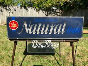Vintage 1970's Anheuser Busch Natural Light Beer Lighted Sign Bar Tavern Store