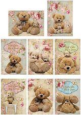 Hug A Bear Keep Calm ~ Card Making Toppers / Scrapbooking / Crafting