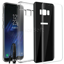 Premium Front+Back Screen Protector Case Pen for C Spire Samsung Galaxy S8 G950U
