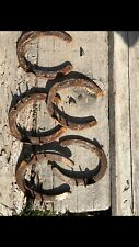 Used Rustic Horseshoes Rusted Lot Of 25