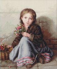 LUCA-S  B513  Portrait of girl  Kit  Broderie  Point de croix  Compté