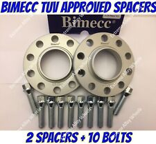 ALLOY WHEEL SPACERS 12mm X 2 BMW Z1 Z3 Z4 Z8 Z SER M12X1.5 + BOLTS SS BIMECC