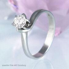 Ring in 750/- Weißgold mit 1 Diamanten 0,50 ct. Top Crystal/P1 ungetragen