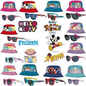 Unisex Kids Bucket Bush/Fisherman Hat Wd UV400 Sunglasses,2Pcs Gift Set,3+Y