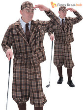 Adults 1930s Golfer Pub Golf Costume Stag Party Sports Themed Fancy Dress Outfit
