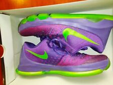 Used Nike KD 8 Suit 749375-535 Purple Green Durant Basketball Shoes Size 13