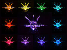 Solar Powered Starburst , Color Changing Garden Stake