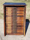 Antique Vintage Industrial 20 Drawer Wood Block Printers Cabinet UNICO
