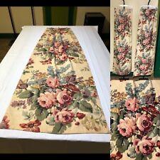 Vtg 1940' Floral Print Cotton Drapery . Perfect For Pillows Or Drapes. 2 Pcs.