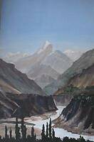 Mountain Landscp Himalayas Oil Painting c1990 James RM Arnold (20/21stC British)